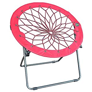 Amazon Com Round Bungee Chair Red Folding Comfortable