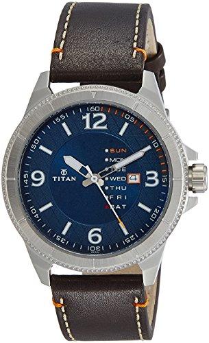 Titan Purple Steel Analog Blue Dial Men's Watch NL1701SL01 / NL1701SL01