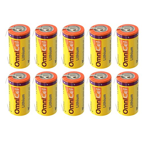 10x OmniCel ER26500 3.6V 8.5Ah Sz C Lithium Battery Tabs Tracking Backup AMR by Exell Battery