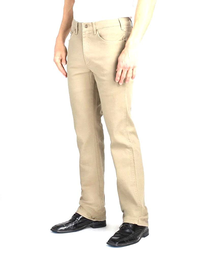 Elliesox Khaki Stretch Straight Cut Jeans by Grand River 191