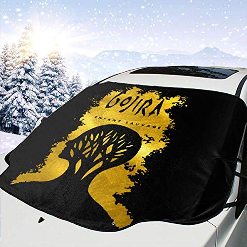 STAYREALCYX Gojira L'enfant Sauvage Car Windshield Cover - Frost Ice Snow Water Scratch and Heat Resistant