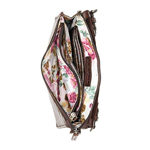 Spikes & Sparrow Bronco Messenger Bag Maletín piel 25 cm brown_dark brown, braun