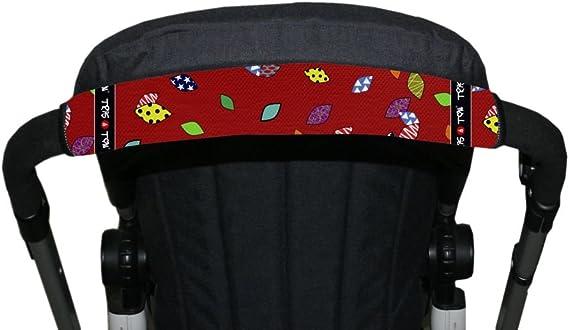 Manyo 2Pcs Protection Guidon Poussette en SBR Nylon Poussette Accoudoir Poign/ée Accessoire Poussette Imperm/éable Couverture Protection pour Poussette//Landau Rouge