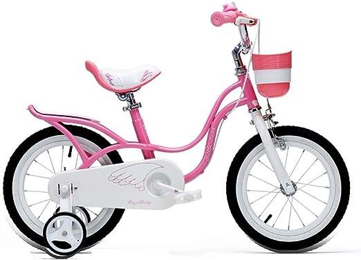 LXF Bicicletas Infantiles Pink Swan Girl Niño Niño Bicicleta ...