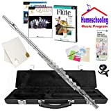Homeschool Music - Learn to Play the Flute Pack (Queen Rock Music Book Bundle) - Includes Student Flute w/Case, DVD, Books & All Inclusive Learning Essentials