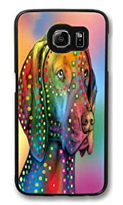 dog 03 PC Case Cover for Samsung S6 and Samsung Galaxy S6 Black