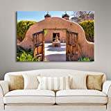 Art Wall 'Gate to Chimayo' Gallery Wrapped Canvas Artwork by Steve Ainsworth, 36 by 48-Inch