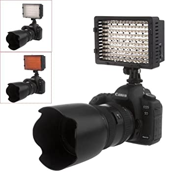Neewer Cn-160 Led Dimmable Ultra High Power Panel Video Light Kit: Cn-160 Led Light,(2)2600 Mah Battery, Usb Battery Charger & Carrying Case For Canon, Nikon, Pentax, Sony Dslr Cameras,dv Camcorders 3