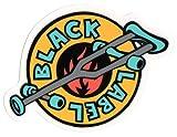 Black Label OG Crutch Skateboard Sticker - New