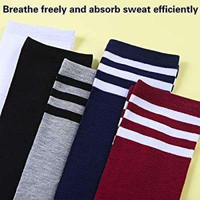 Aneco 5 Pairs Over Knee Thigh Socks High Thigh Women Stockings Over Knee-High Sock High Boot Thigh Socks for Cosplay, Daily Wear at Women's Clothing store