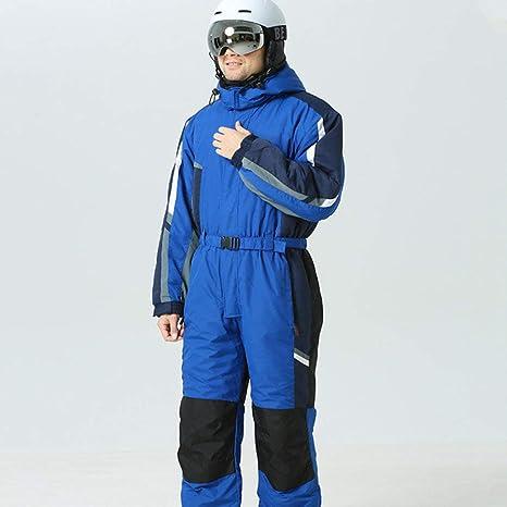 KWBgA Traje de esquí, Hombres Mono de Nieve de una Pieza ...