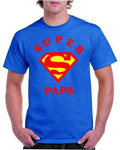 Camisetas divertidas Parent Super Papa - para Hombre Camiseta  Amazon.es   Ropa y accesorios 9c9073a098dc4