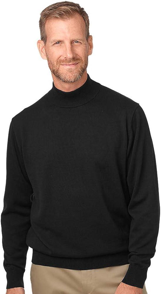 Paul Fredrick Mens Pima Cotton Mock Neck Sweater