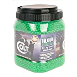 Colt Ultrasonic Competition Grade Airsoft-BBS (10000 Count), Green, 12g