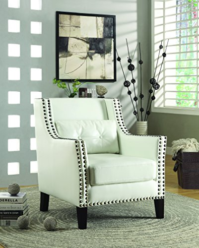 Coaster Home Furnishings Upholstered Accent Chair White and Espresso