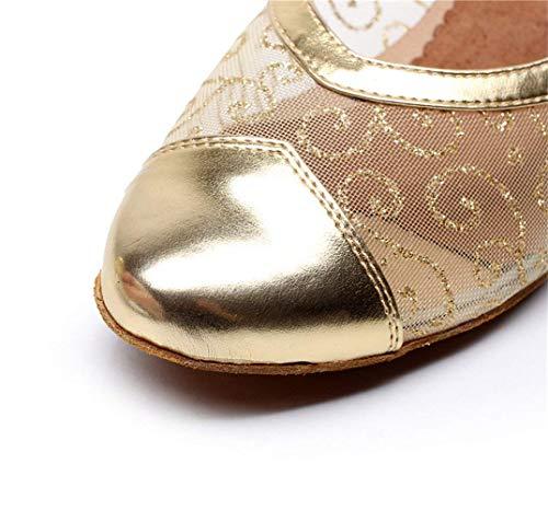 Sandals Lace Eu34 up Willsego uk3 5 Moderno Modern Latino Blackheeled4cm jazz Nocturnos Dance Bodas Salón Net Chacha De Zapatos Baile Our35 Salsa Tango Boda samba Goldheeled4cm Womens 55SxqwR
