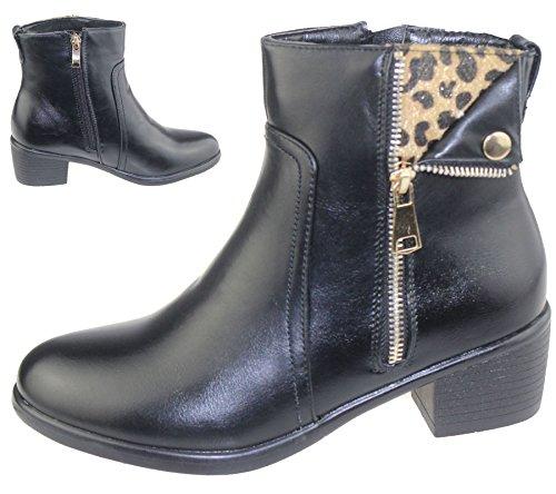 Top Chelsea femmes bas femmes chaussures 2 à Riding High pour Style talon Bottines Casual pour Zip gnvp8qA