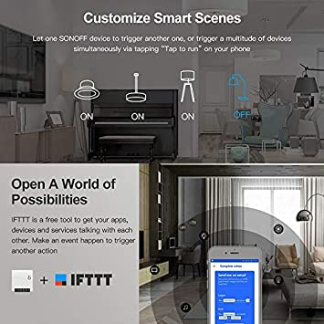 1 PCS SONOFF Mini Smart Switch Interruptor de Control Remoto DIY para Electrodom/ésticos Funciona con Alexa Google Home