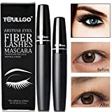 4D Silk Fiber Lash Mascara, Fiber Mascara, 4D Fiber Lash Mascara, Waterproof Long Lasting Eyelash Extension Warm Water Washable 4D Eyelash Mascara Makeup-Black