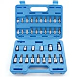 Capri Tools 30004 S2 Star Torx and External Socket Bit Set, 35-Piece
