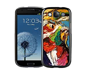 BINGO good review Abstract painting Samsung Galaxy S3 i9300 Case Black Cover