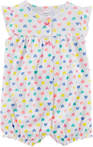 Carter's Baby Girls' Heart Multi Print Romper 9 - Romper Heart