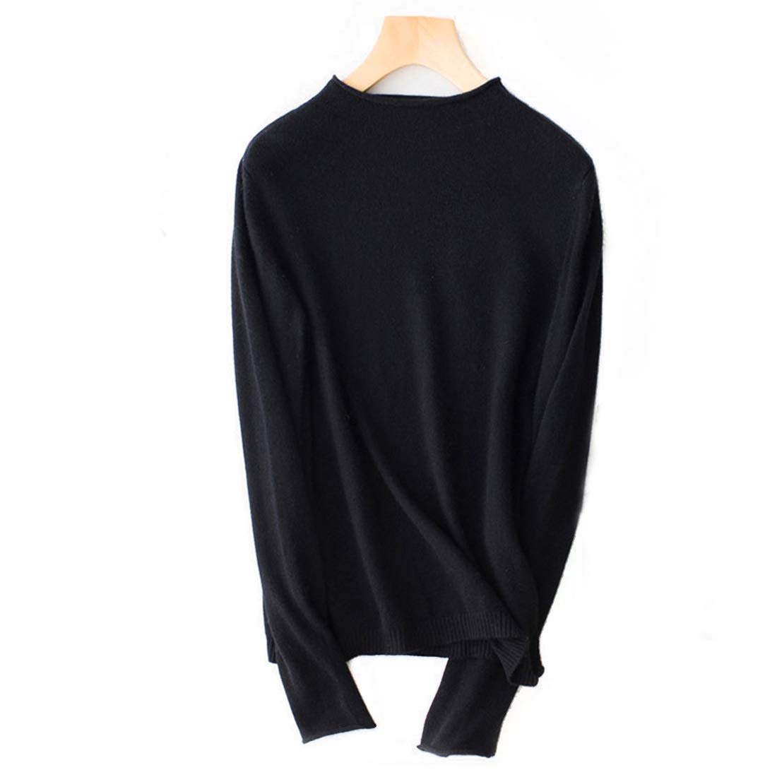 Black CEFULTY Women's High Quality Cashmere Sweater Long Sleeve Feminine OL Style Office Workers Comfortable Fabrics