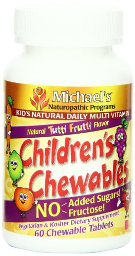 Childrens Multivitamin Chewable Tablets (Michael's Naturopathic Programs Childrens Chewable Natural Multivitamin- 60 Chewable Tablets)