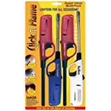 Click n Flame Utility Lighter 4-Pack for All Occasions Wind Resistant Flexible Shaft Multi Purpose Lighter BBQ Kitchen Candle