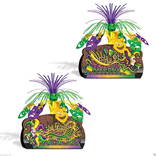 MARDI GRAS Fat Tuesday Party Decoration Parade Float Centerpiece Metallic Spray