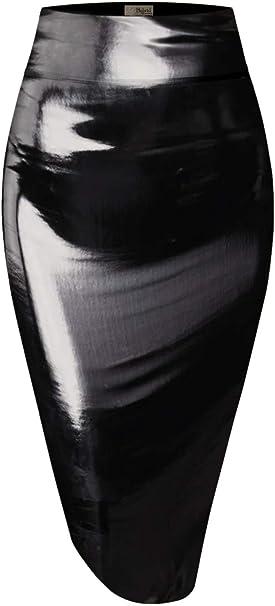 Hybrid & Company H&C Falda con Cintura elástica para Mujer, Color ...
