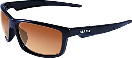 f32f496a59 Image Unavailable. Image not available for. Color  Maxx Sunglasses Retro  2.0 Black Frame HD Amber Lenses