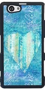 Funda para Sony Xperia Z1 Compact - Corazón Azul by Andrea Haase