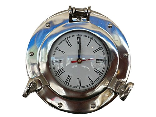 Deluxe Class Chrome Porthole Clock 8