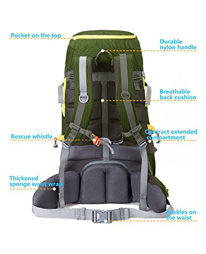 60L-Adjustable-Internal-Frame-Backpack-Waterproof-Trekking-Bag-of-Rain-Cover-for-Outdoor-HikingTravelClimbingCamping-Mountaineering-by-Makino