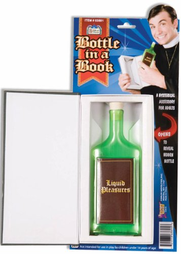 F63891 The Good Book Bottle In A Book (Priest Collar Costume)