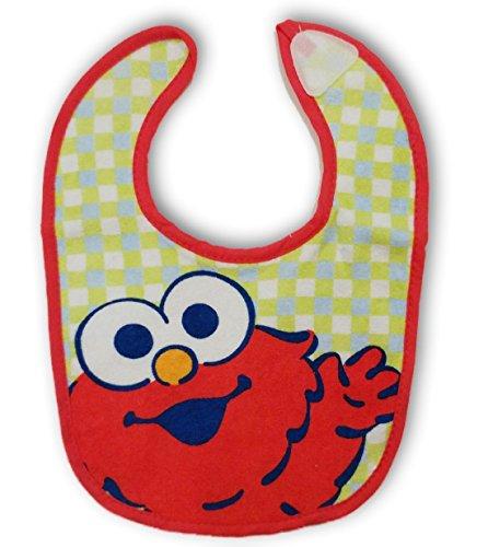 (Sesame Street Elmo Plaid Terry Bib for Baby Toddler 0+ Months)