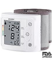 Tensiomètre au Poignet, Hylogy Professionnel Electronique Tensiomètre Automatique avec Détection de la Fréquence Cardiaque, Grand écran LCD, 2 * 120 Mémoire Mesure
