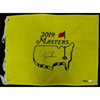 $1233 » Tiger Woods Hand Signed Autographed 2019 Masters Championship Pin Flag UDA /1000