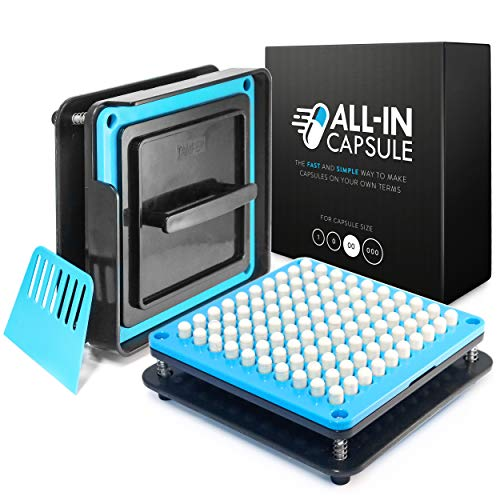 ALL-IN Capsule Filling Machine for Size 00 - Make Your Own Capsules Now Easier and Faster - Use With Empty Gelatin or Vegetarian Caps - Clear Illustrated Instructions With Video