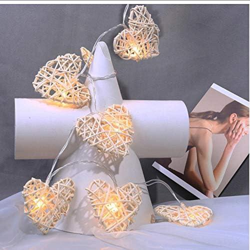 Tragbare handgefertigte rattan herzförmige led lichterkette 4 meter 20 leds powered by aa batterie, valentinstag geschenk, fee led licht