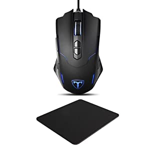 Gaming Mouse, [New Model + Mouse Pad][7200 DPI]Pictek Gaming Mice, Wired Mouse, Computer Mouse PC Mouse 7200 DPI Programmable LED Mice with 5 DPI Adjustable, 7 Buttons for Gamer Win 10/8/7/XP