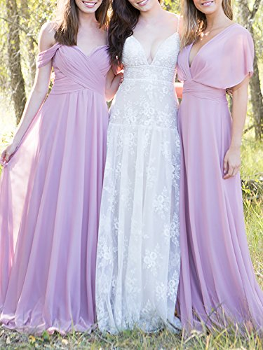 Bridesmaid Off 2018 A Champagne The Dresses Chiffon Long Line Prom Womens Shoulder Party wfTWRxqnfU