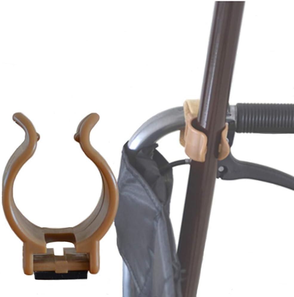 Yorimi Soporte para bastón de senderismo con clip de plástico para caminantes, sillas de ruedas y ruedas