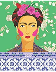 2020: Weekly & Monthly Planner + Calendar View   Colorful Patterned Frida Kahlo Kitsch   2020 Calendar Year   8x10 Organizer, Agenda with To-Do Lists   January 2020- December 2020 Weekly View Planner