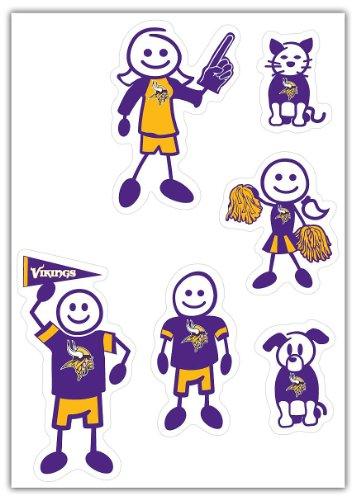 Minnesota Vikings Window - Siskiyou NFL Minnesota Vikings Small Family Decal Set