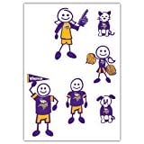 Siskiyou Sports NFL Minnesota Vikings Small Family Decal Set