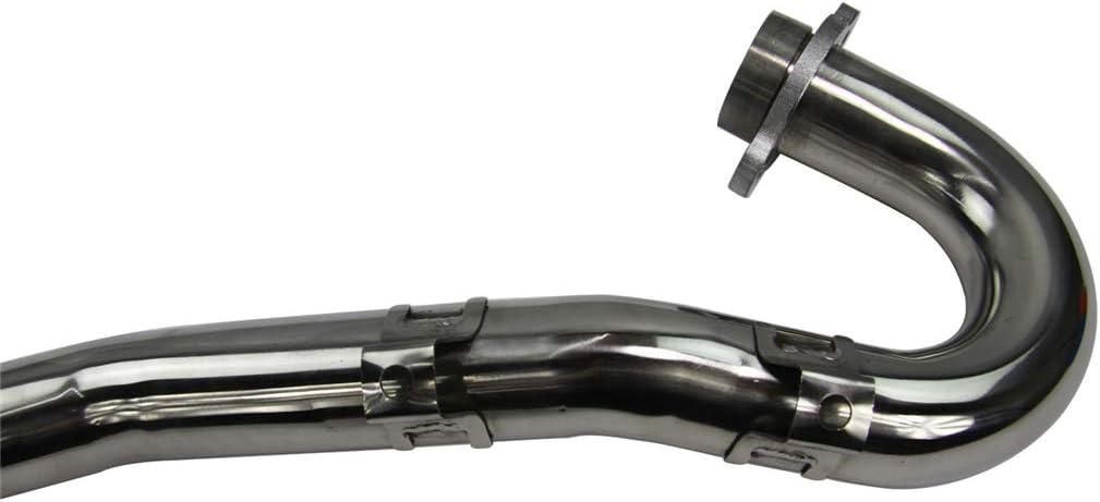 CoolingSky Stainless Steel Exhaust Header Pipe Head for 2005 Honda CRF450R CRF450