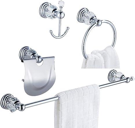 Towel Holder Brass Silver Bathroom Modern WC Toilet Bathroom Luxury Classic