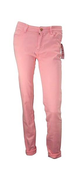 Zara rosas de Skinny estirar las piernas algodón Jeans Rosa ...